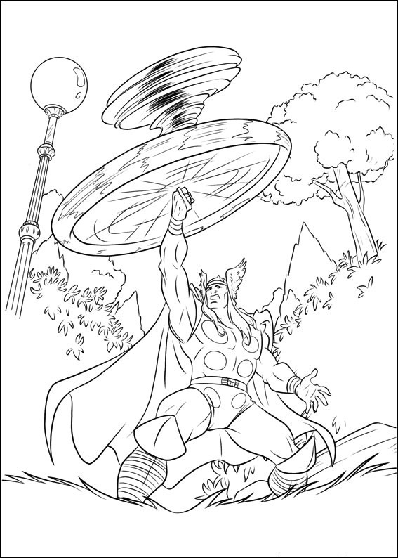 Free Coloring Pages Thor Avengers : Free printable thor coloring pages for kids