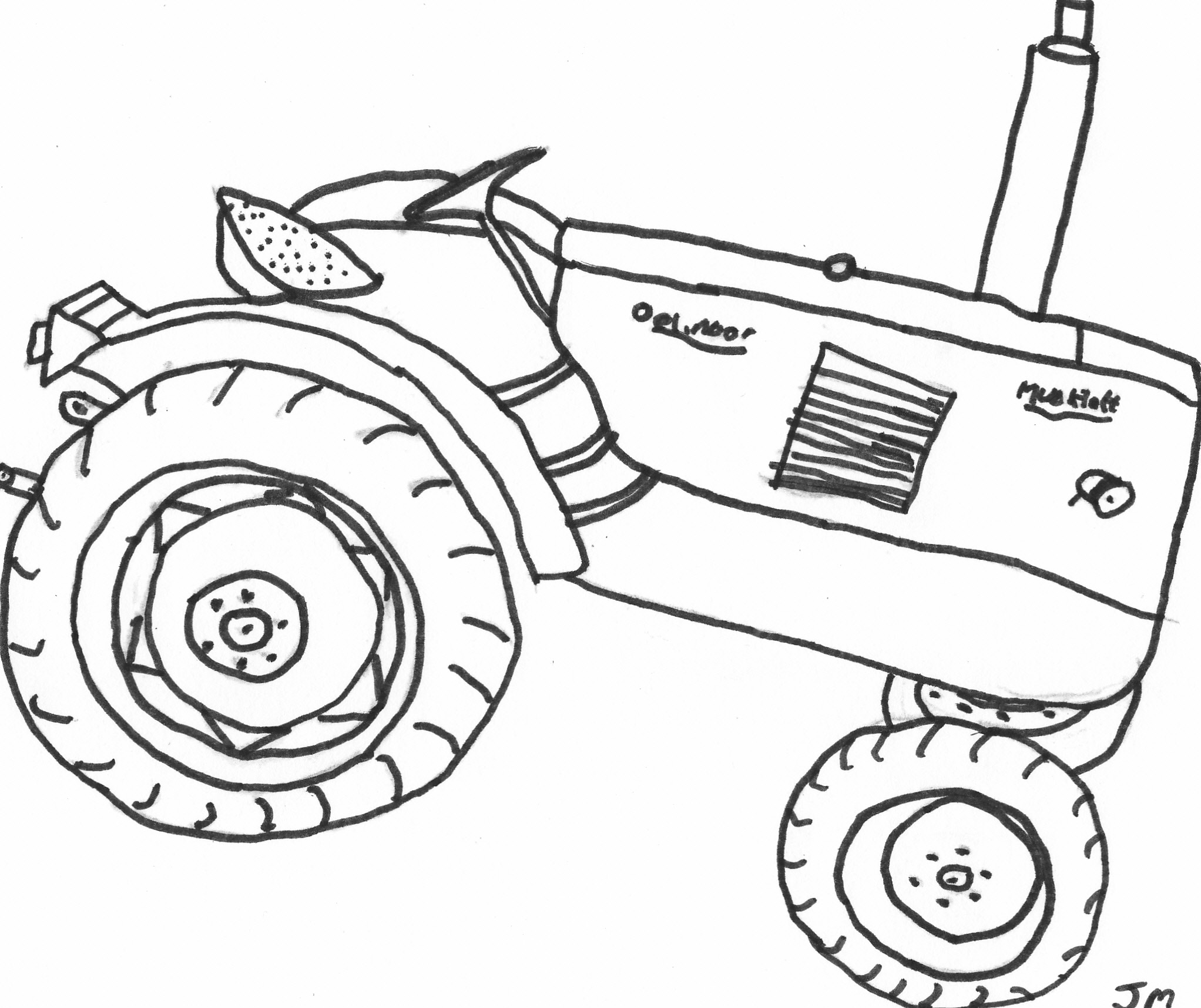 Toddler coloring pages of tractors - Printable Tractor Coloring Pages