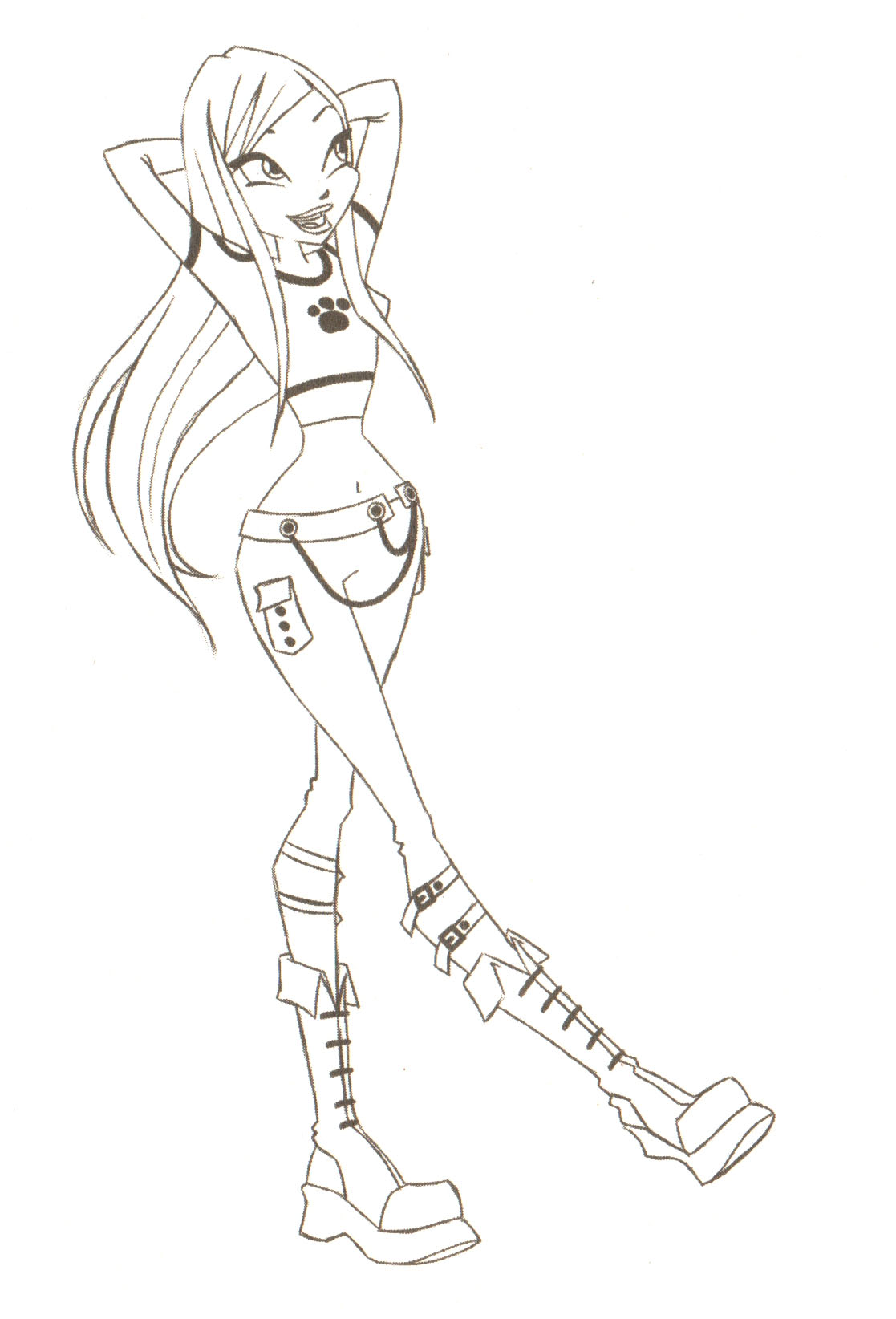 Free printable winx club coloring pages - Printable Winx Club Coloring Pages