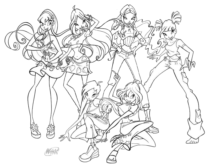 Printable Winx Coloring Pages