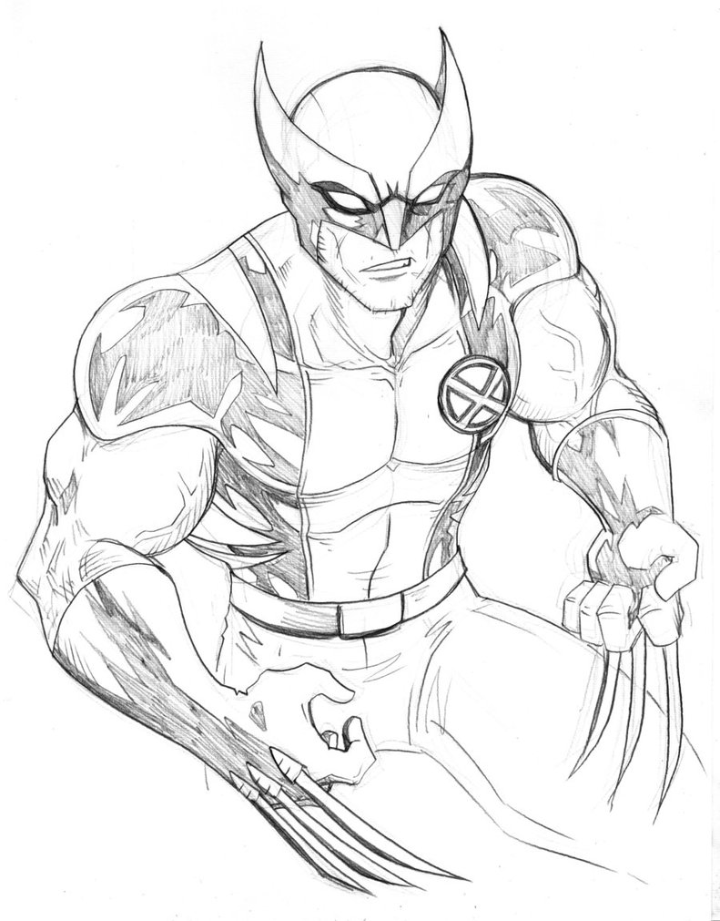 Printable Wolverine Coloring Pages