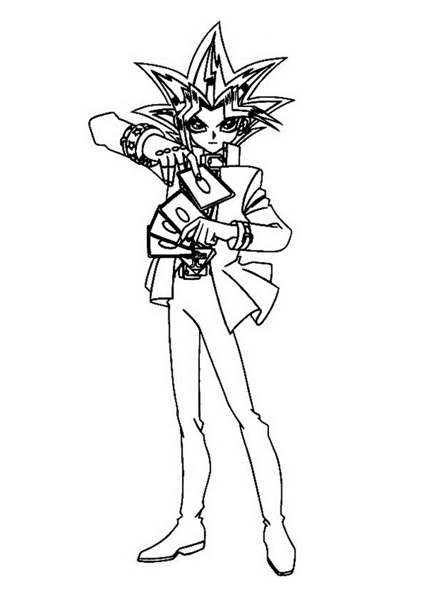 yughio coloring pages - photo#24
