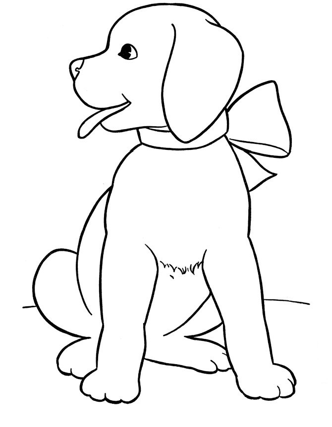 realistic dog coloring pages - Free Dog Coloring Pages