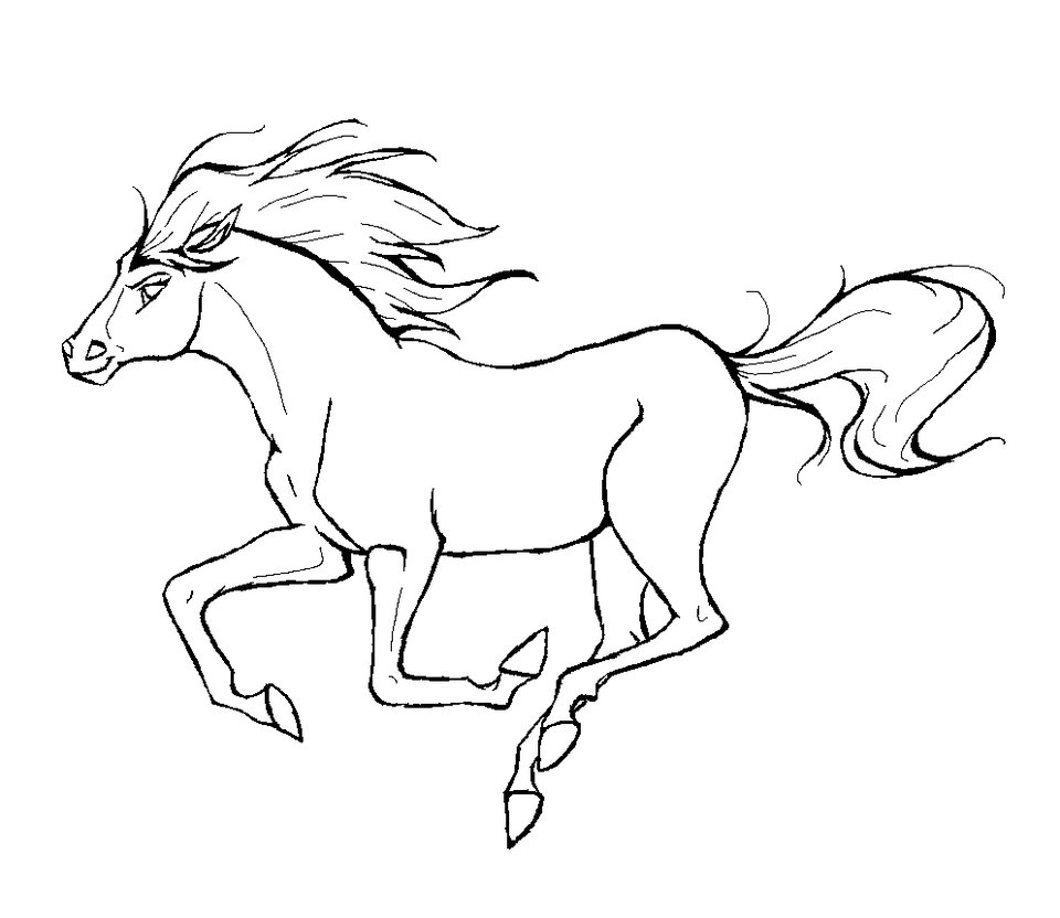 Colouring pages with colour - Realistic Horse Coloring Pages