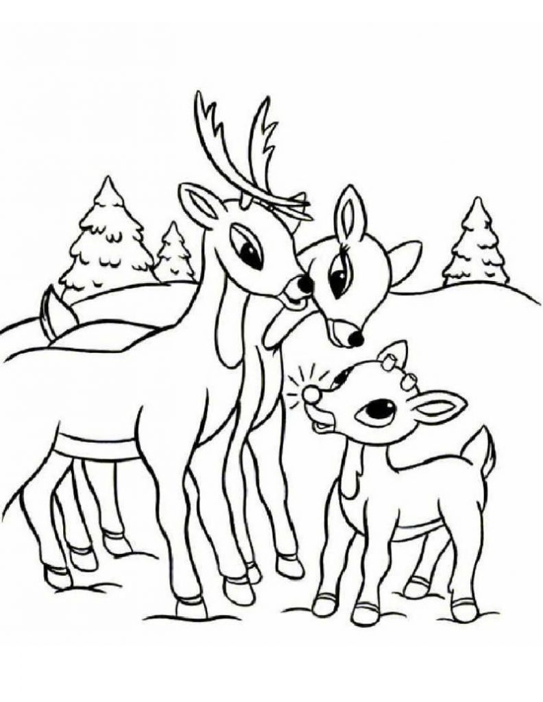 Free printable reindeer coloring pages for kids for Coloring book pages free
