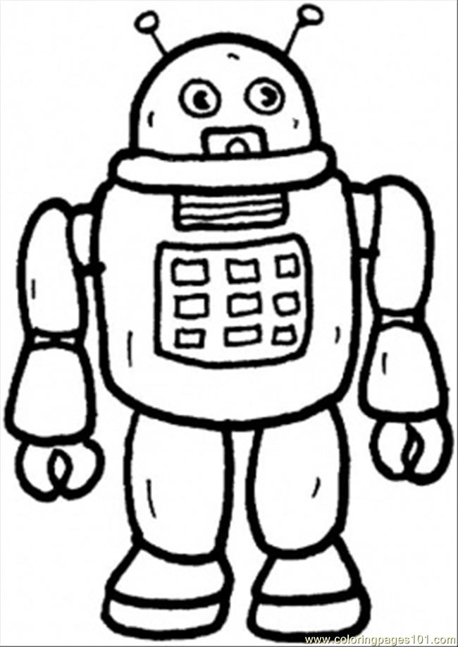 robot coloring pages printable