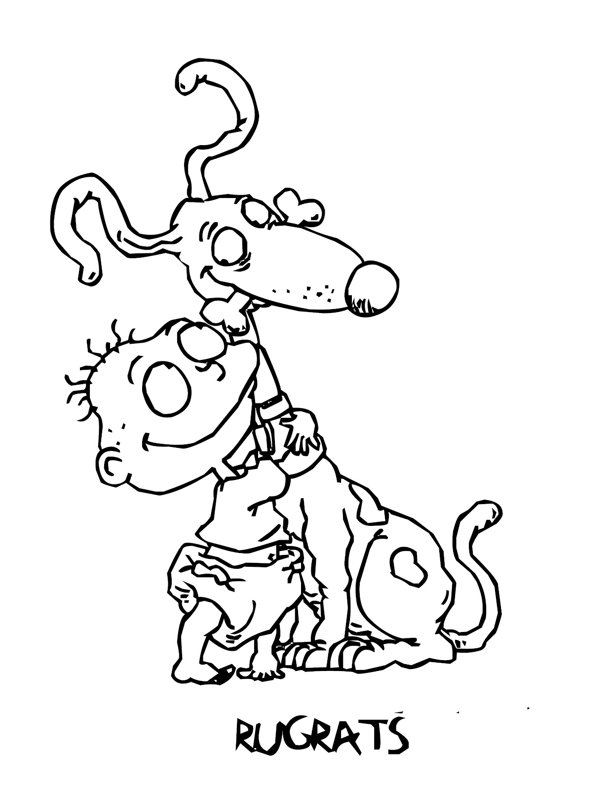 free printable rugrats coloring pages for kids