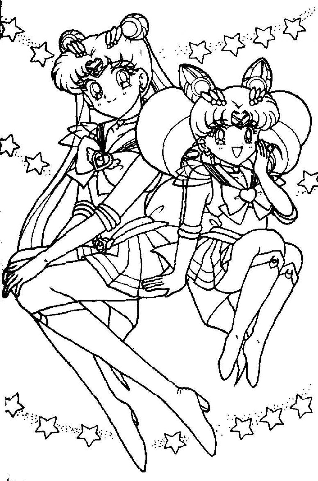 coloring pages for sailor moon - photo#8