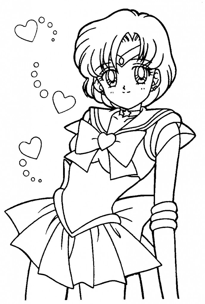 sailormoon online coloring pages | Free Printable Sailor Moon Coloring Pages For Kids