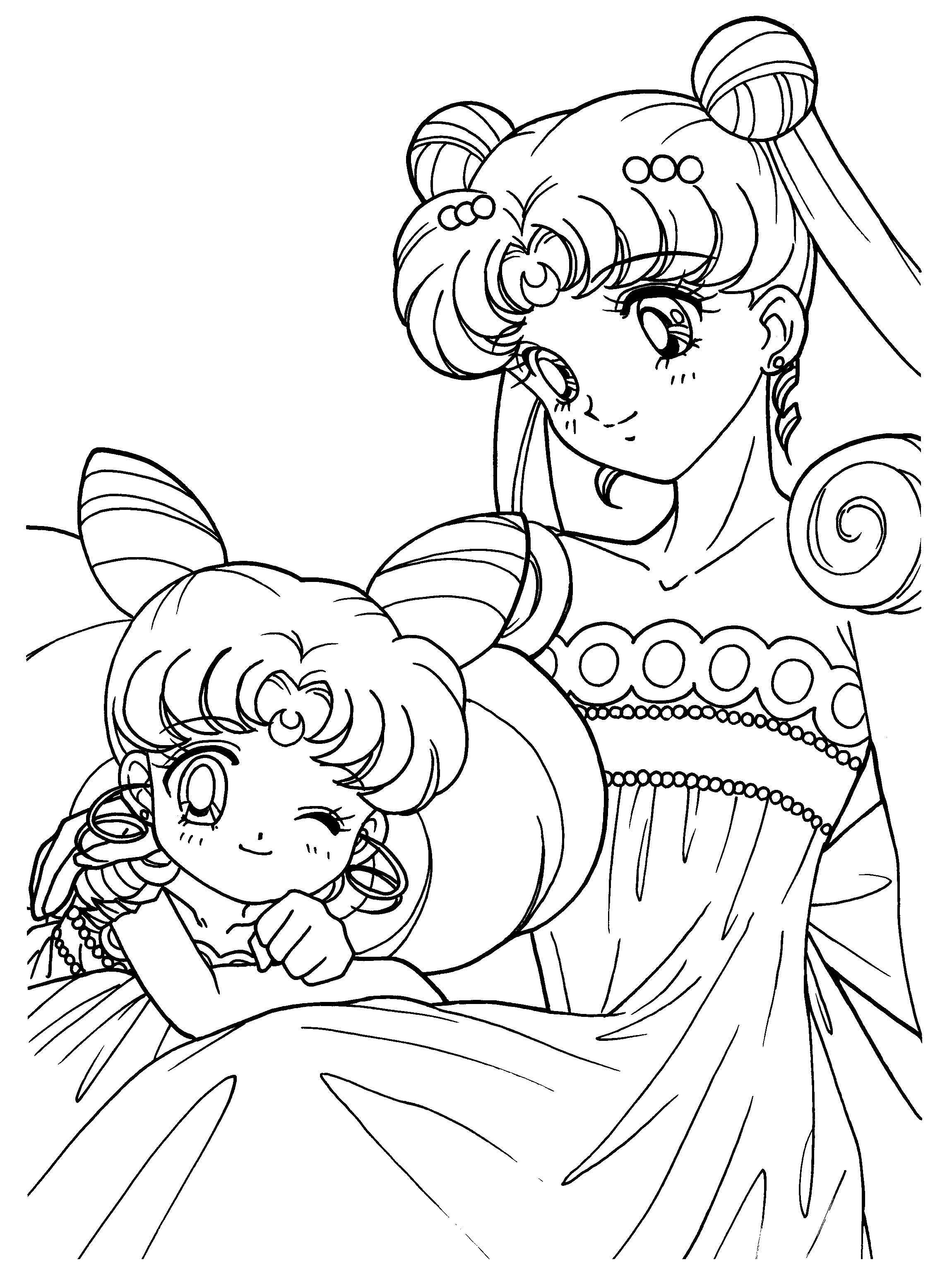 coloring pages for sailor moon - photo#3