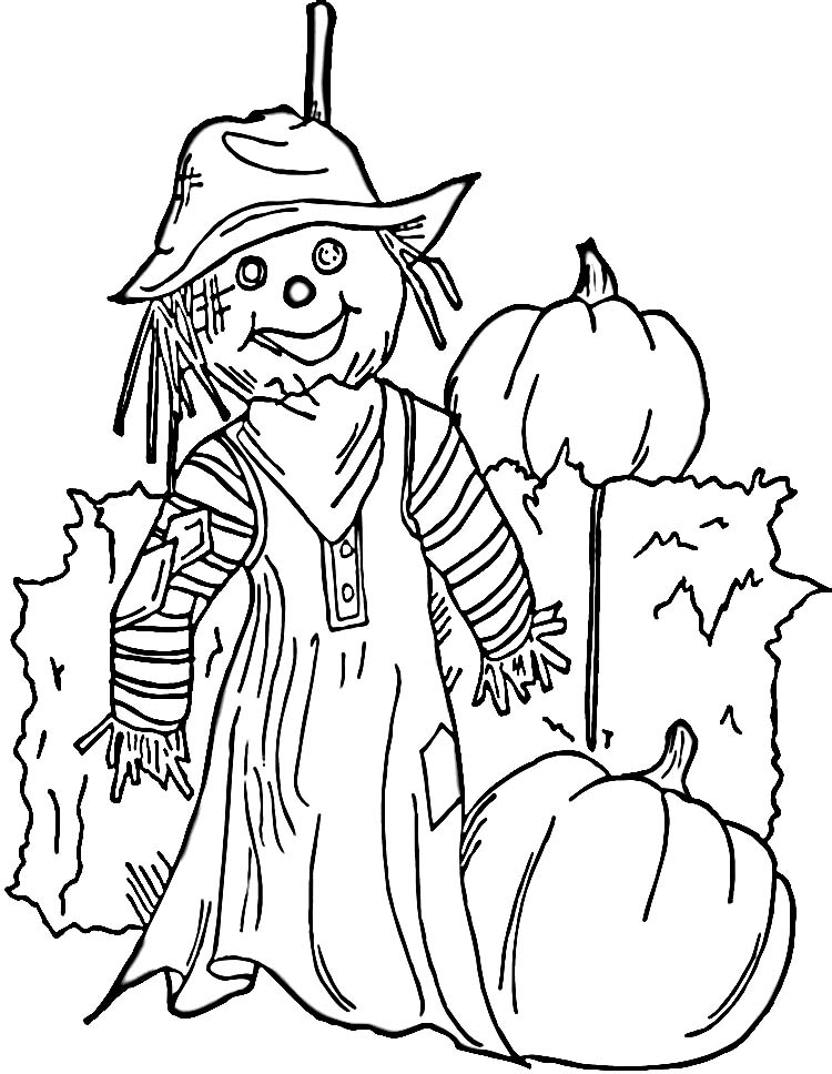 coloring pages of scarecrows - photo#9