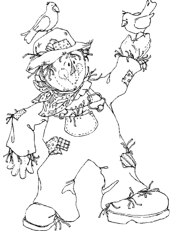 s is for scarecrow coloring pages - photo #7