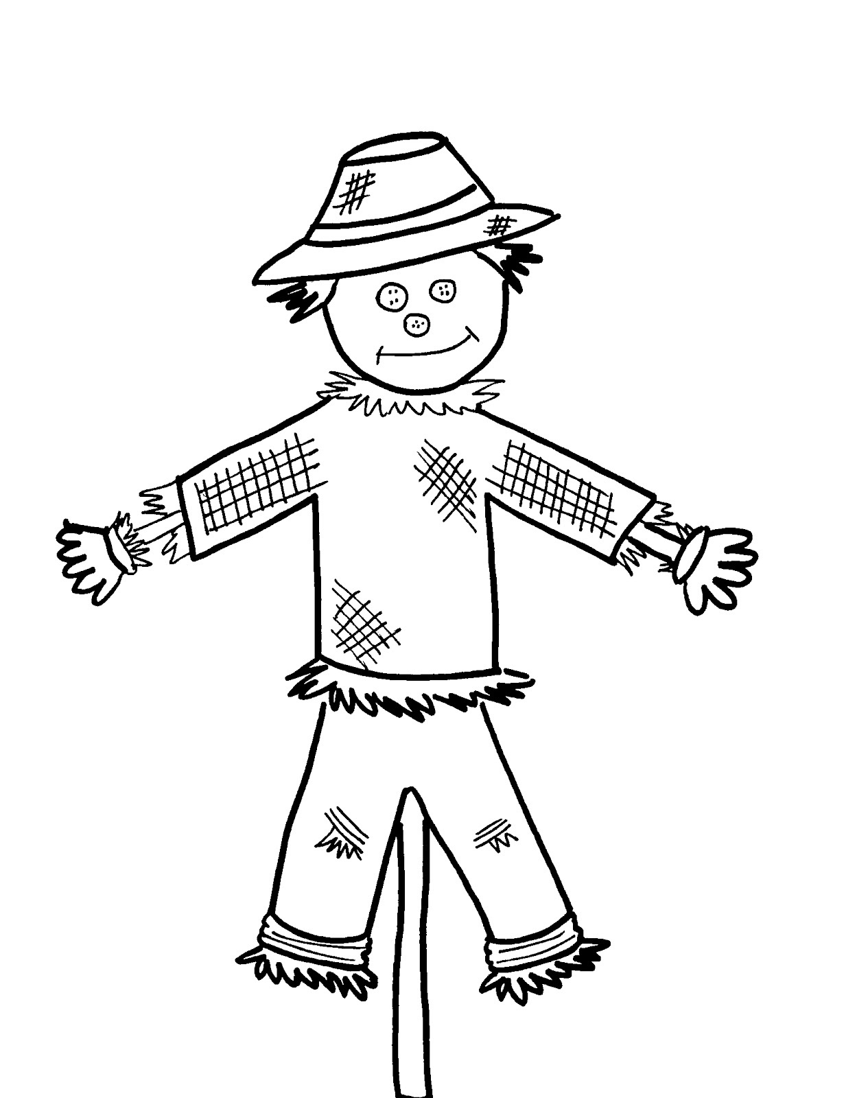 s is for scarecrow coloring pages - photo #24