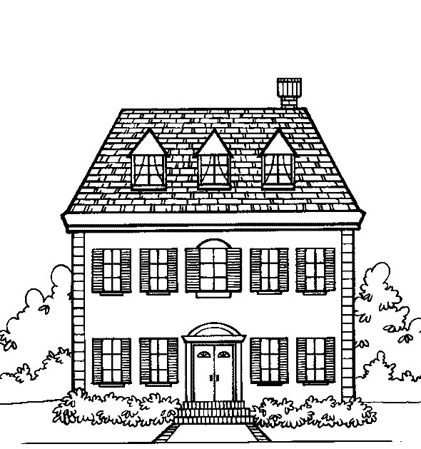 Free Printable House Coloring Pages For Kids House Coloring Pages