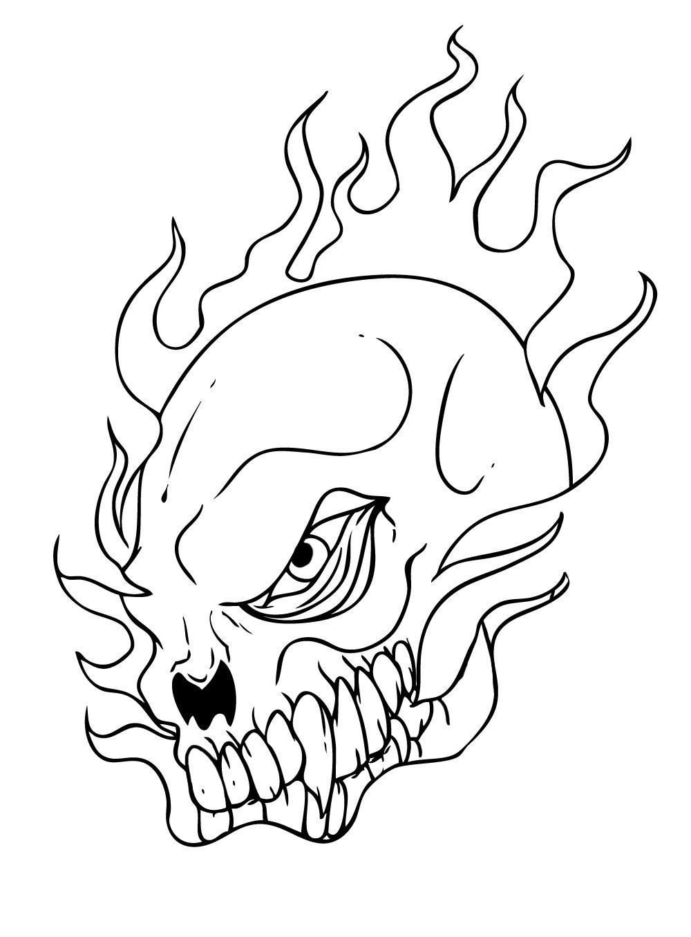 Skull Coloring Page Viewing Gallery
