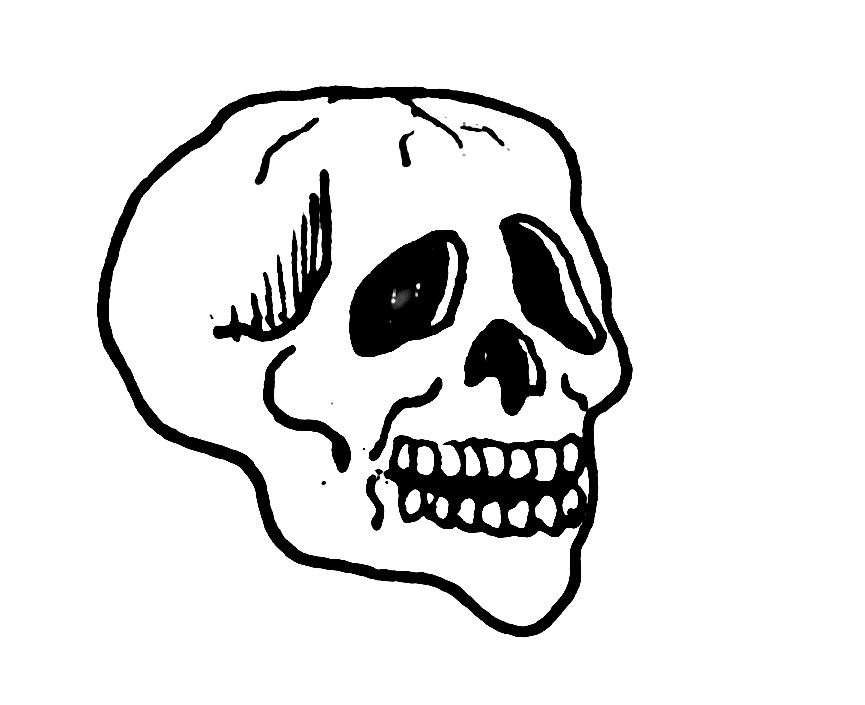 Skull Coloring Pages Photos
