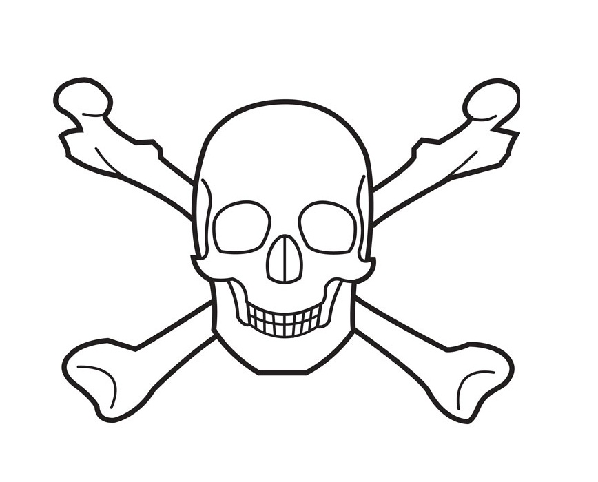 Skull With Bones Coloring Pages