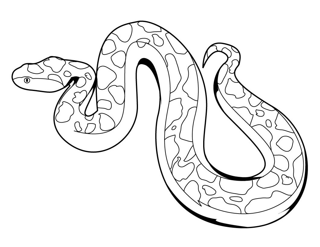 s is for snake coloring pages - photo #19