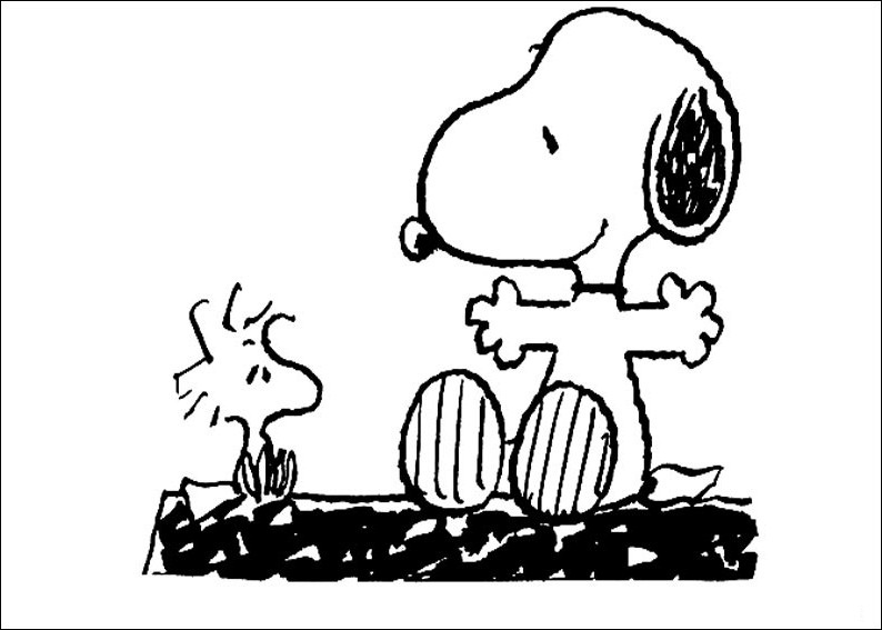 Snoopy coloring pages print