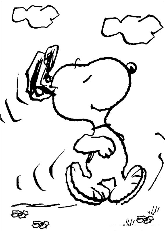 Snoopy Coloring Pages Pictures