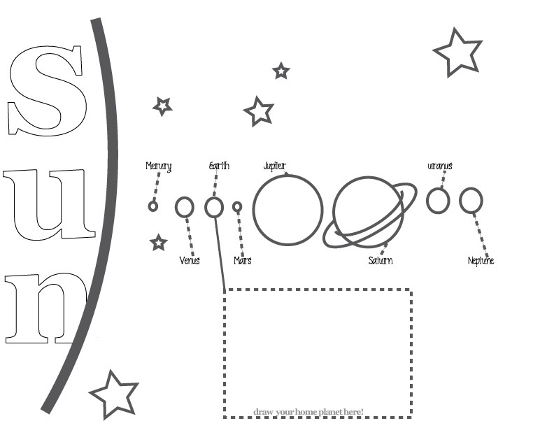 solar system outline printable - photo #32