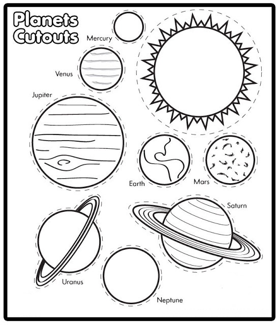 Colouring Pages Print : Free printable solar system coloring pages for kids