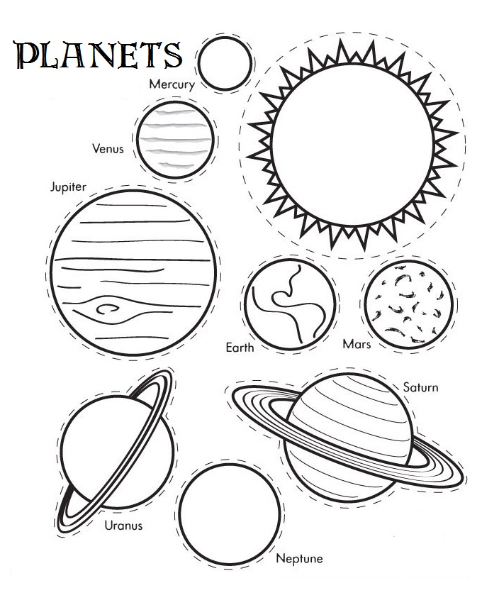 solar system coloring pages for kids - Drawing Sheet For Kids