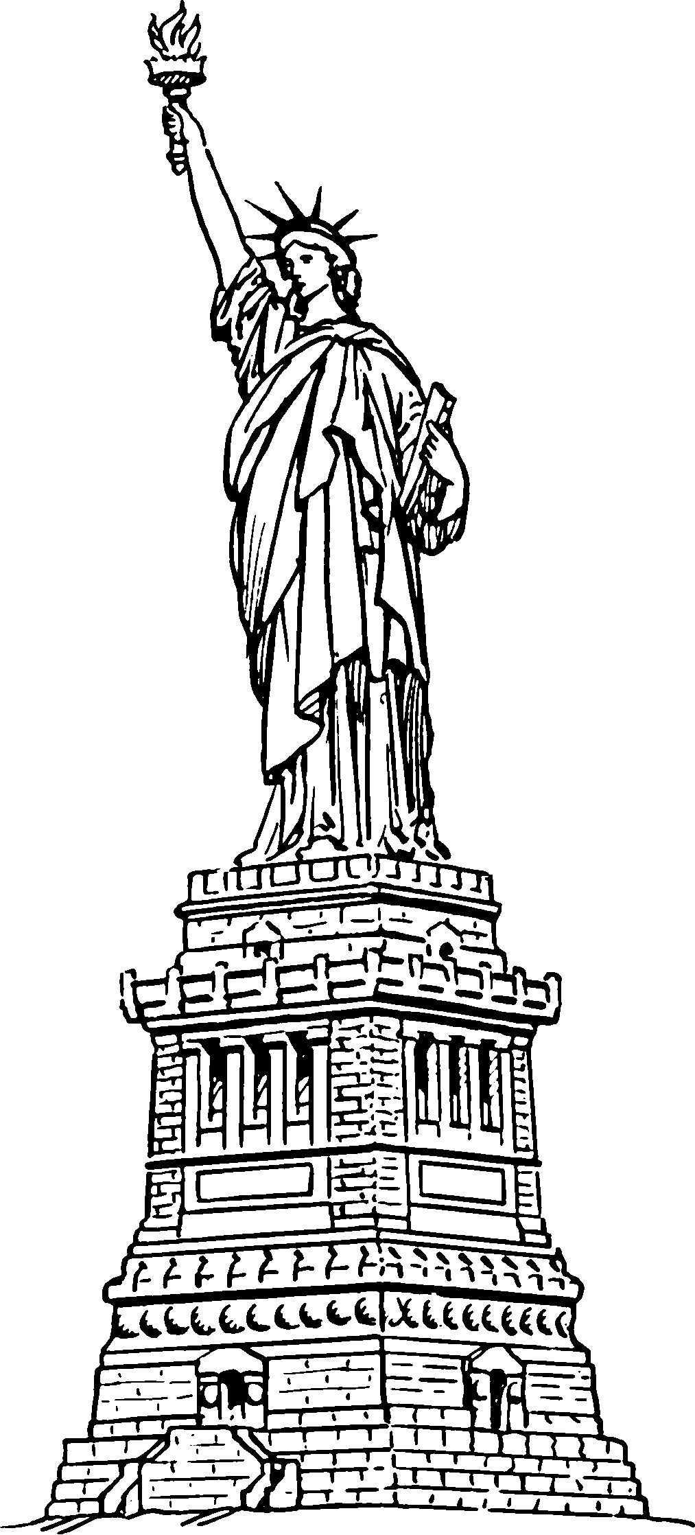 statue of liberty coloring pages free