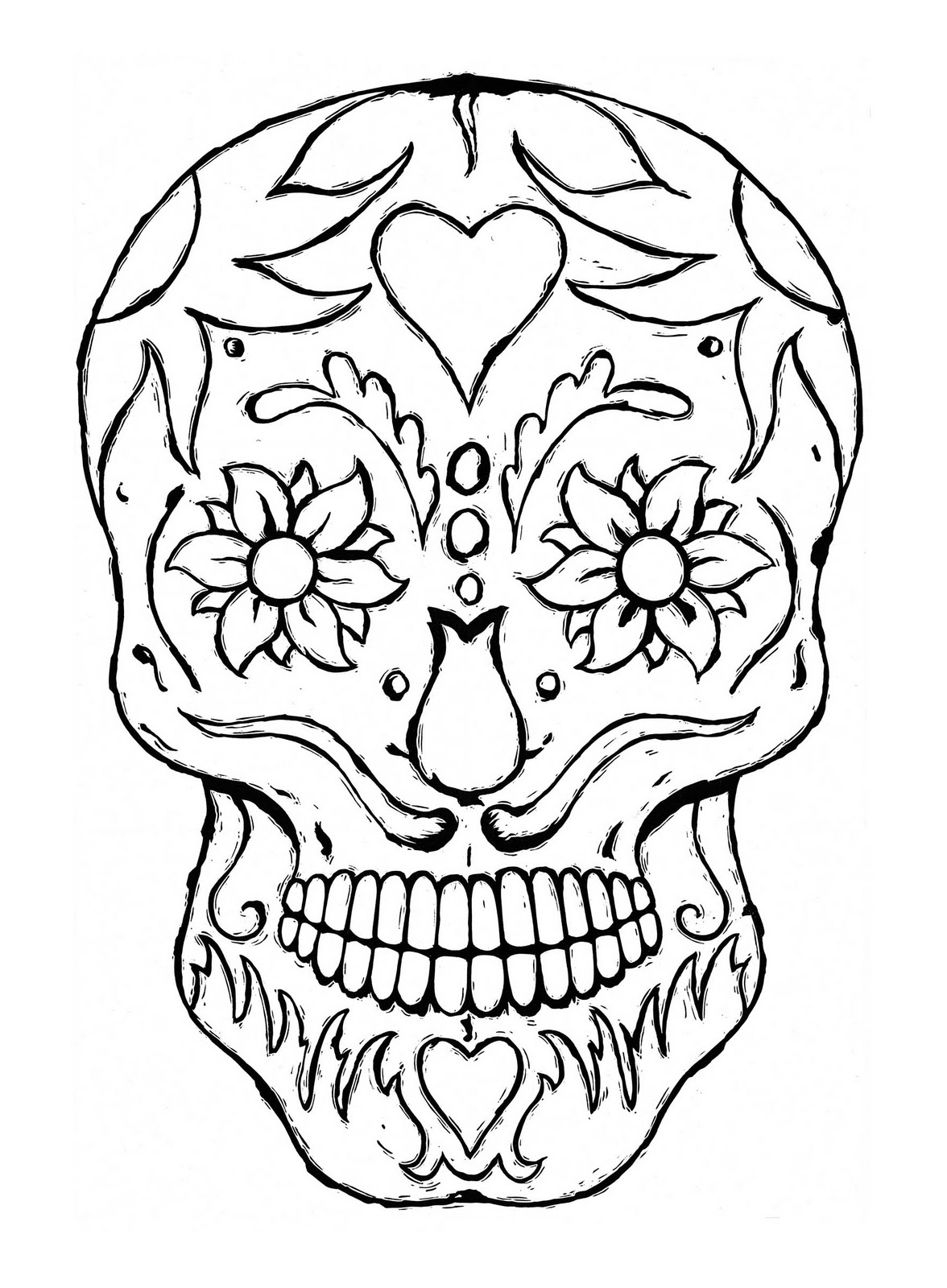 Free printable skull coloring pages for kids for Free printable coloring pages for adults and kids