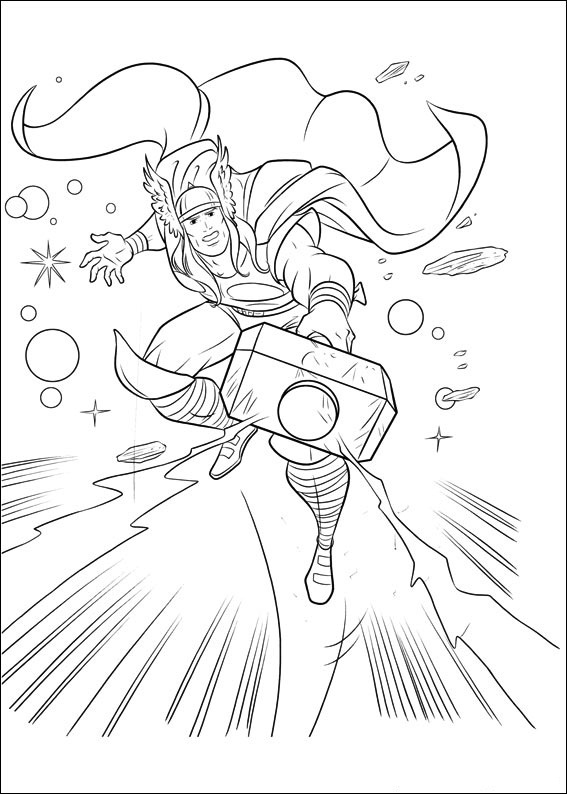 Free Printable Thor Coloring Pages