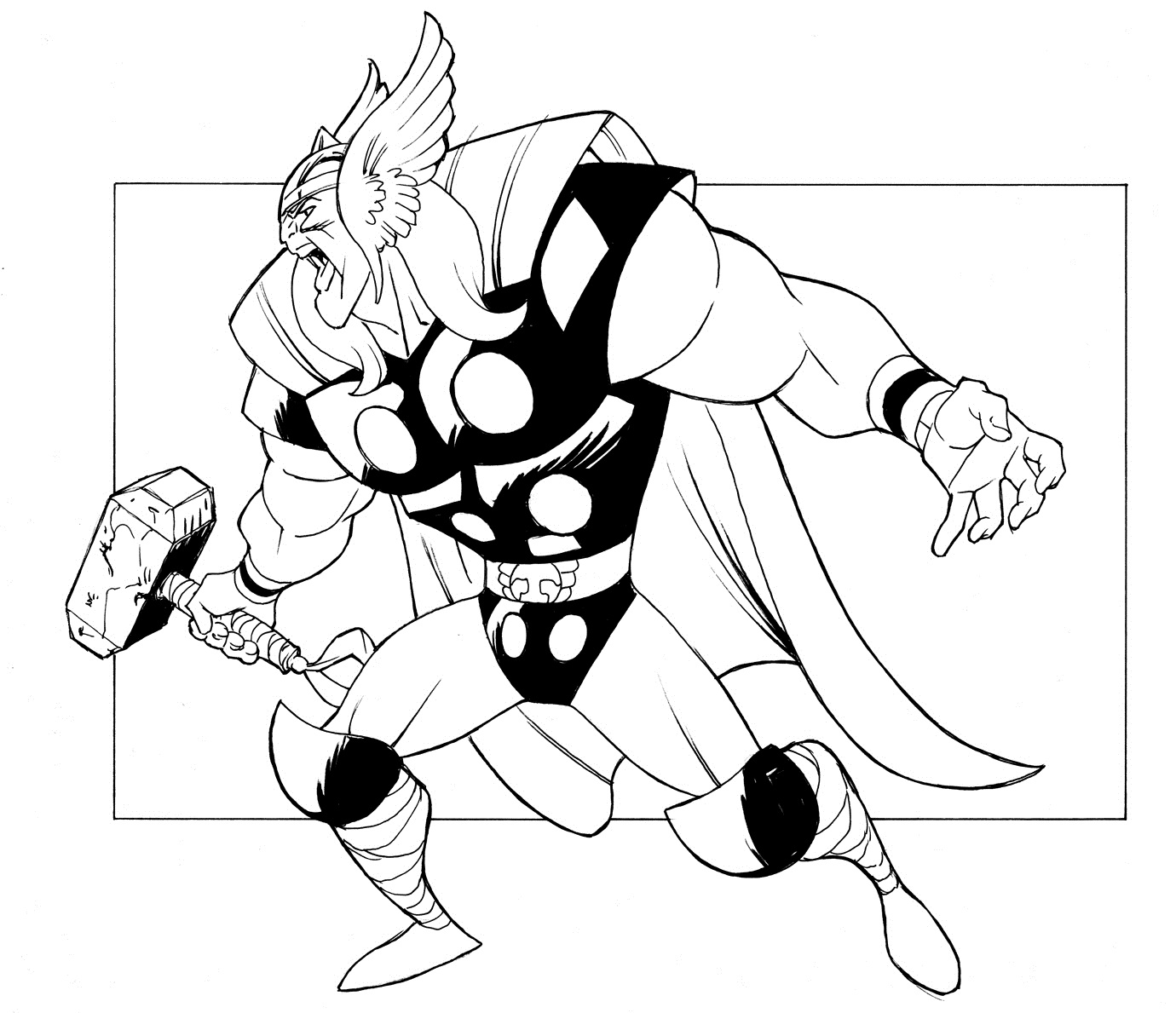 Free Printable Thor Coloring Pages For Kids Thor Coloring Pages