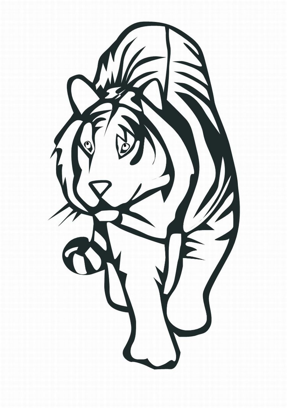 Free coloring pages tiger - Tiger Coloring Pages For Kids