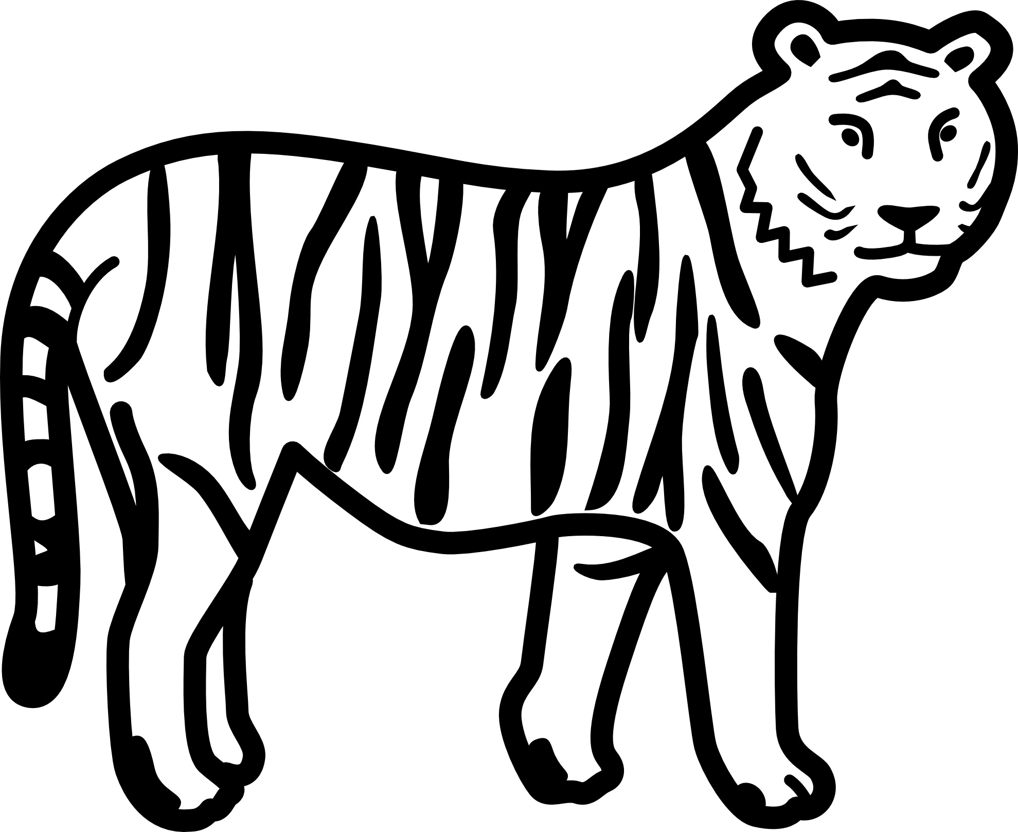 Genial Tigers Coloring Pages