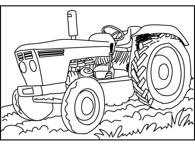 coloring pages tractors trucks - photo#22