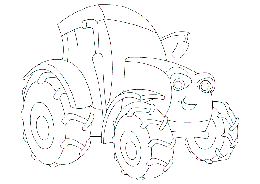 Colouring Pages Print : Free printable tractor coloring pages for kids