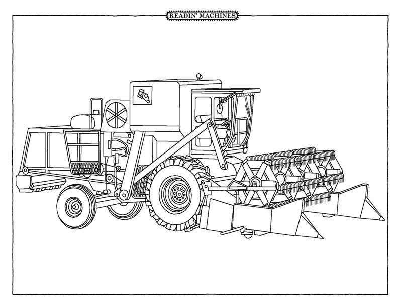 free farm equipment coloring pages - photo#3