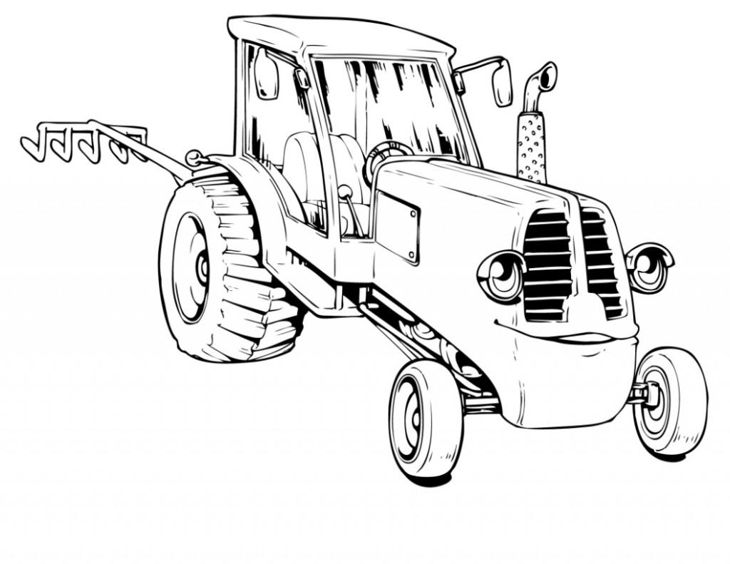 coloring pages tractor - photo#29