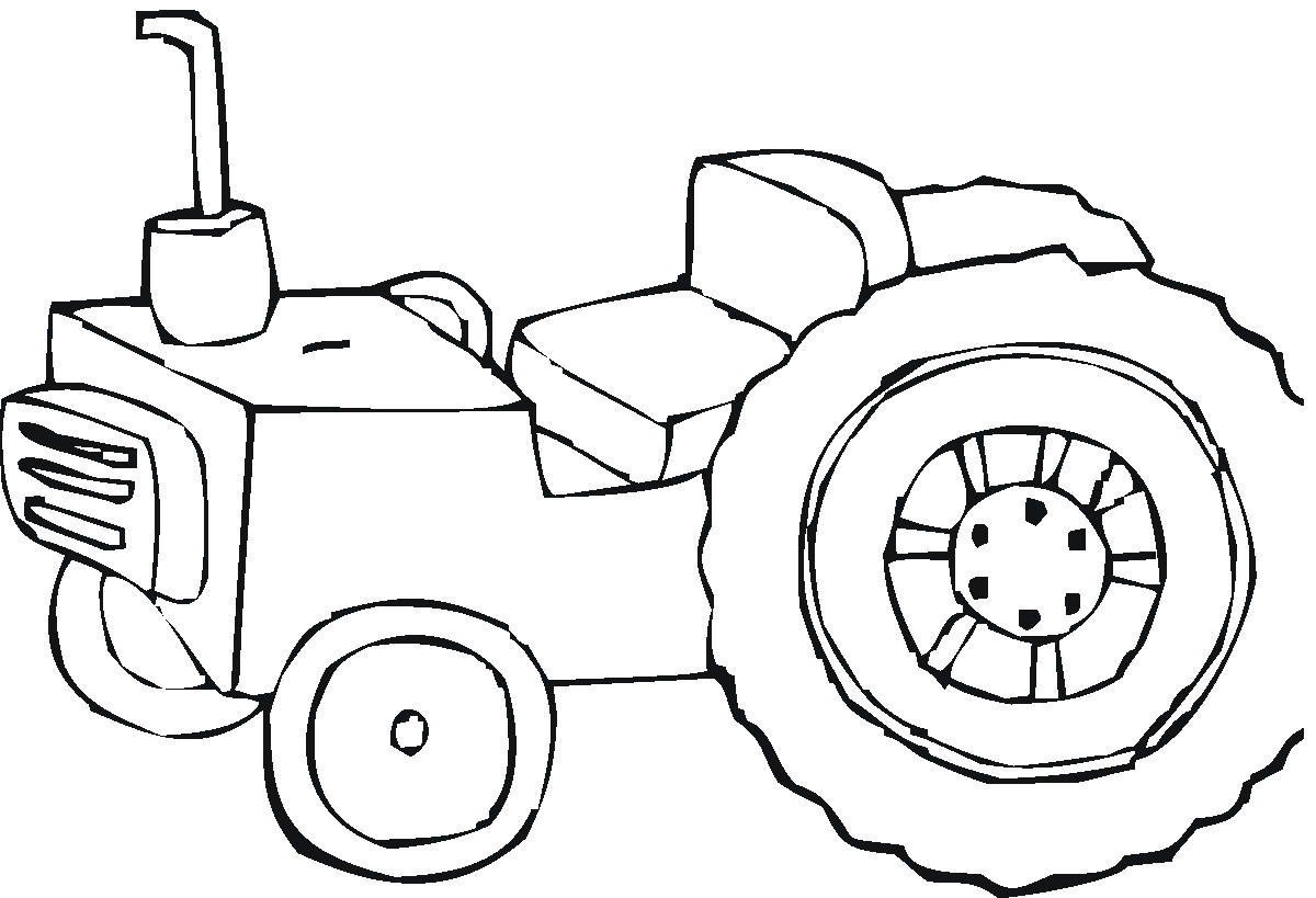 Coloring Pages To Print : Free printable tractor coloring pages for kids