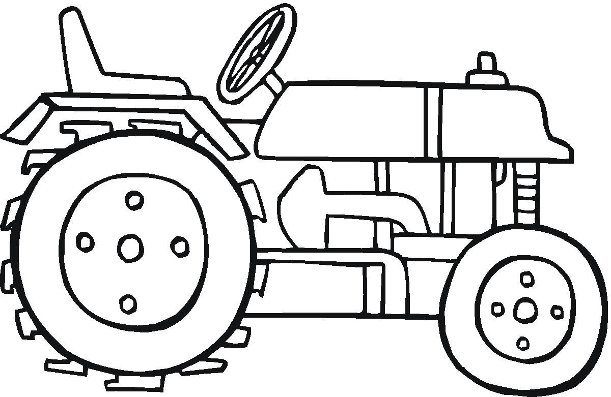 tractor coloring pages for toddleers - photo#1