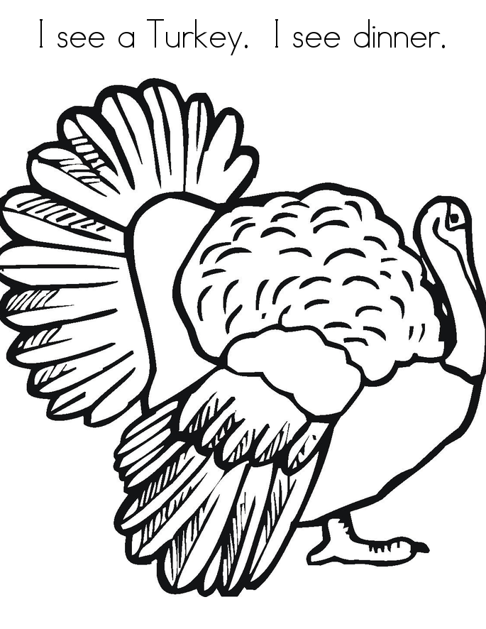 Turkey Coloring Pages Pictures