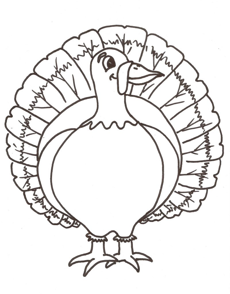 Turkey Feather Coloring Page