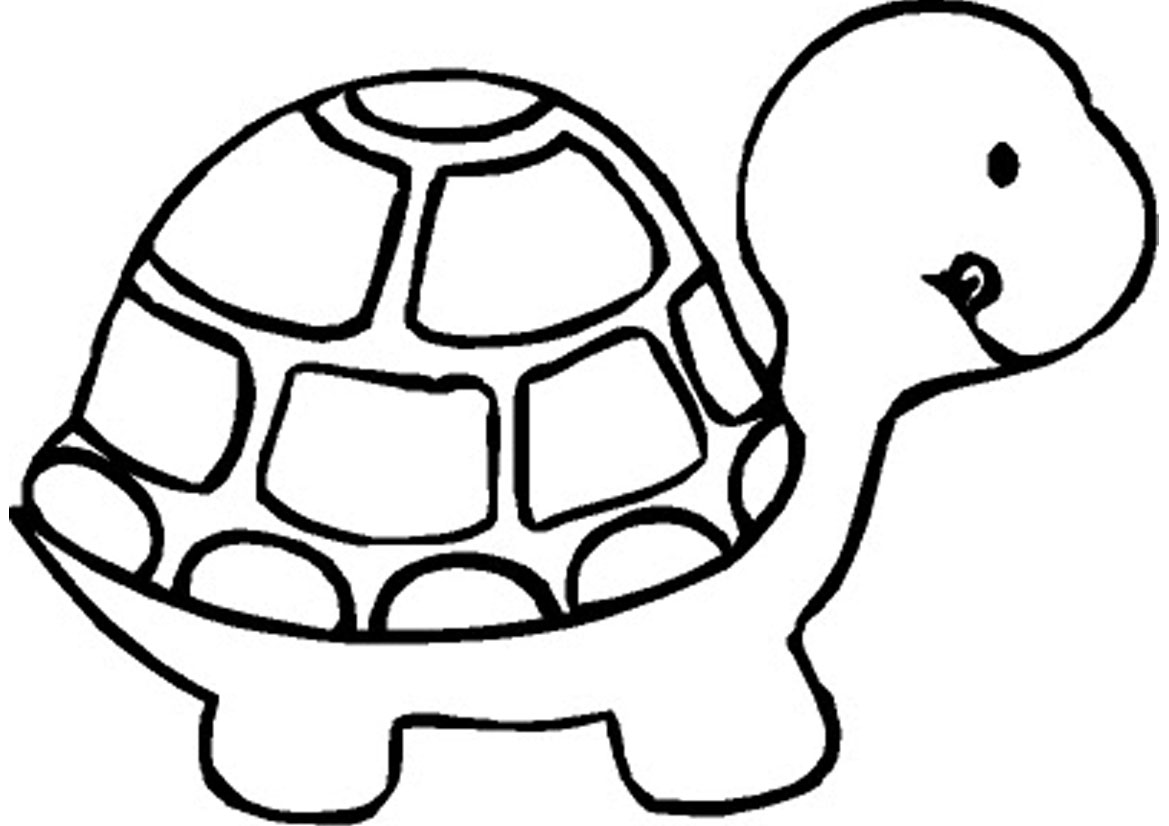 Free printable turtle coloring pages for kids for Free printable cartoon coloring pages