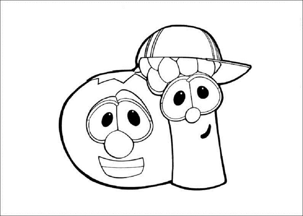 free printable veggie tales coloring pages for kids, coloring pages