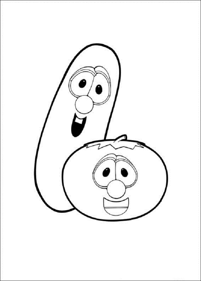 printable veggie tales coloring pages | Free Printable Veggie Tales Coloring Pages For Kids