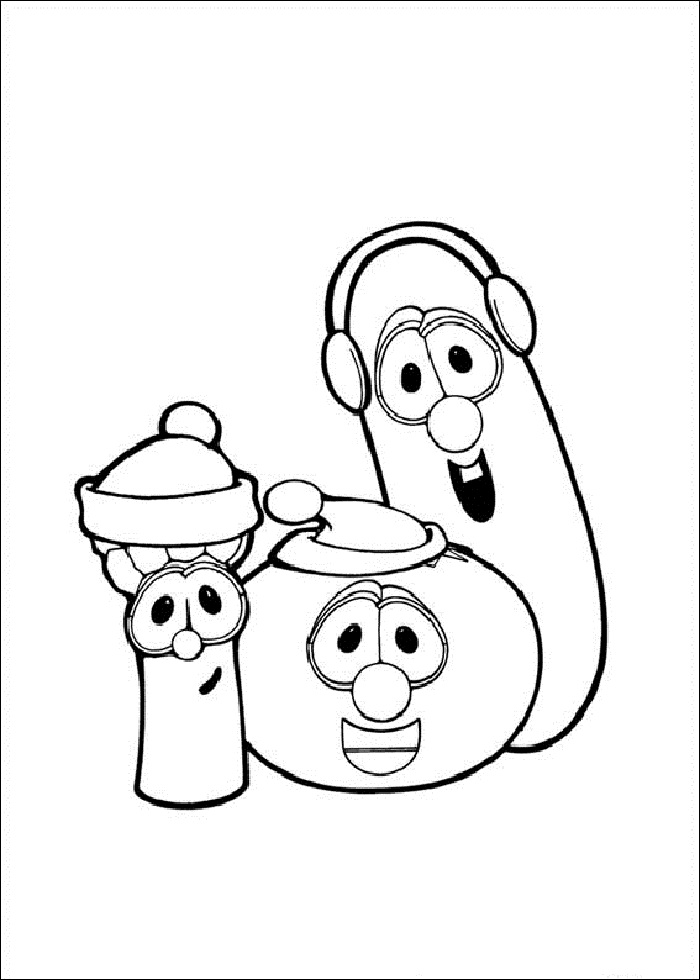 veggie tales coloring pages free - photo#10