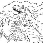Volcano Coloring Pages - Prehistoric