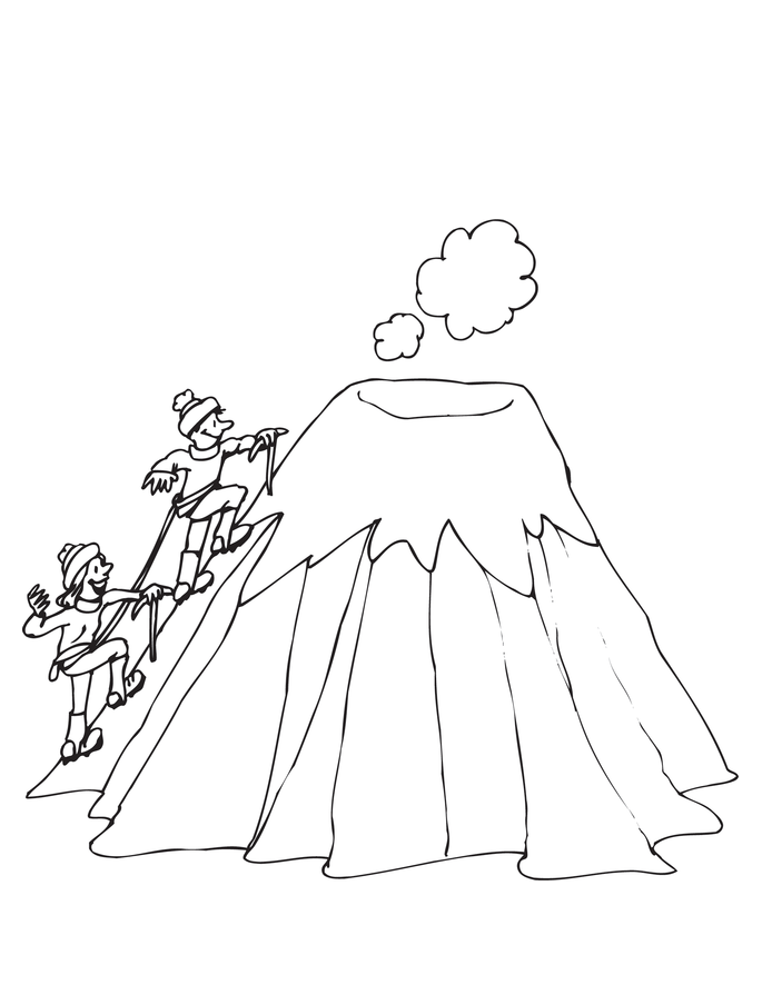 coloring pages volcano - photo #28