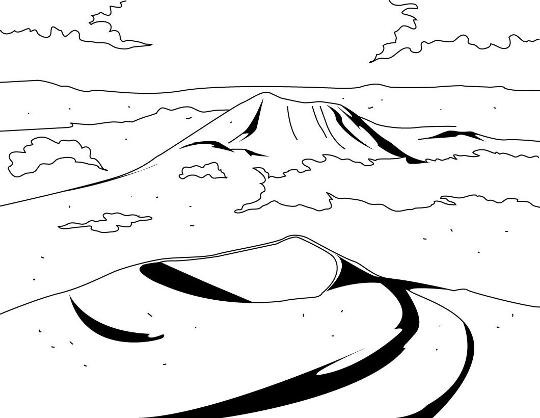 Volcano coloring pages to print - Volcano Coloring Pages To Print