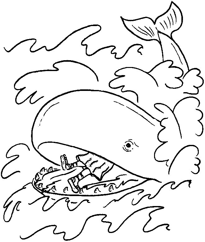 printable religious coloring pages - free printable whale coloring pages for kids