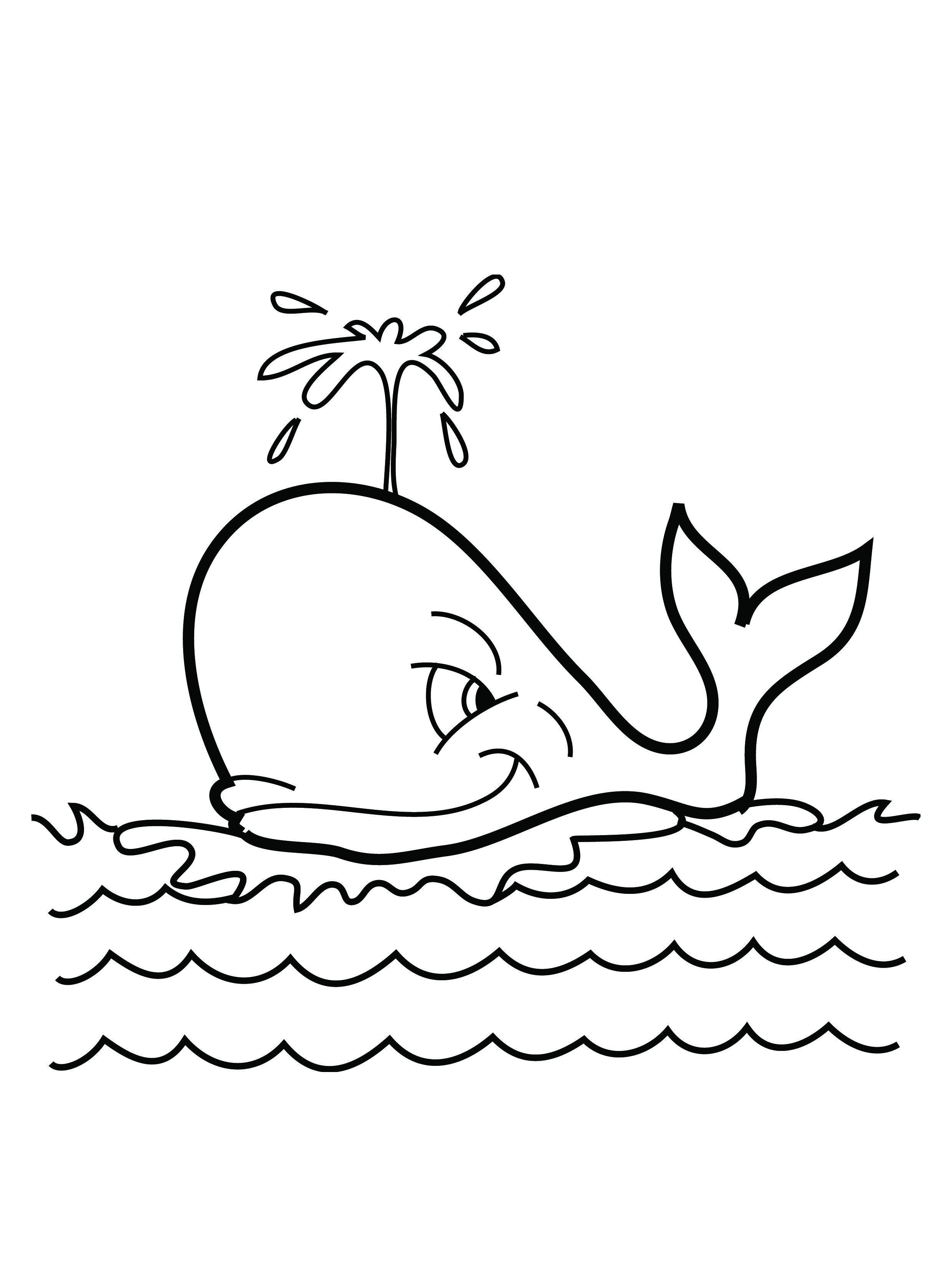 whale coloring book pages - photo#6